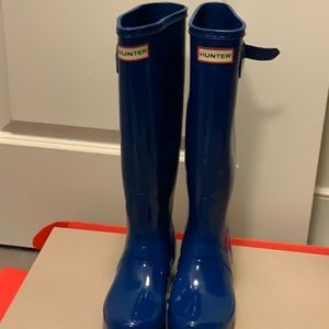 Blue Hunter Wellies